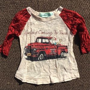 santa's coming to town • burnout w/ lace sleeves
